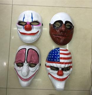 Set De 4 Mascaras Payday Payaso Halloween