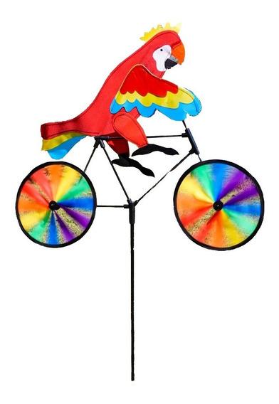 Cata Vento Ciclista Animais Decoração Jardim Sino Dos Ventos