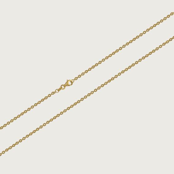 Cordão De Ouro 18k Feminino Elo Oval Com 45cm - 1,4gr
