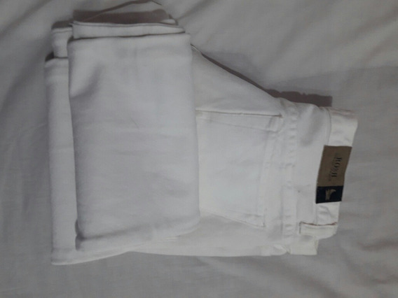 Pantalón De Gabardina Blanco. Rosh