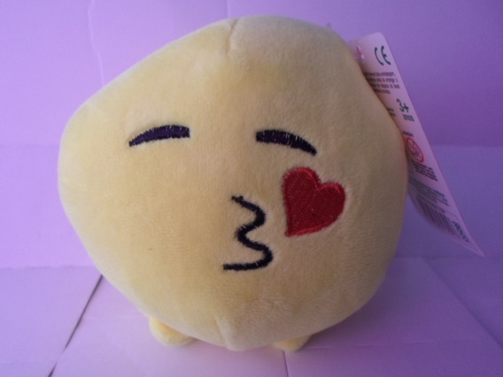 Emoji Beijo Coração Pelucia Multikids 11cm Emoji