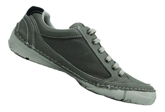 Sapatênis Masculino Couro Fork Footwear Trix Cinza 21383-8