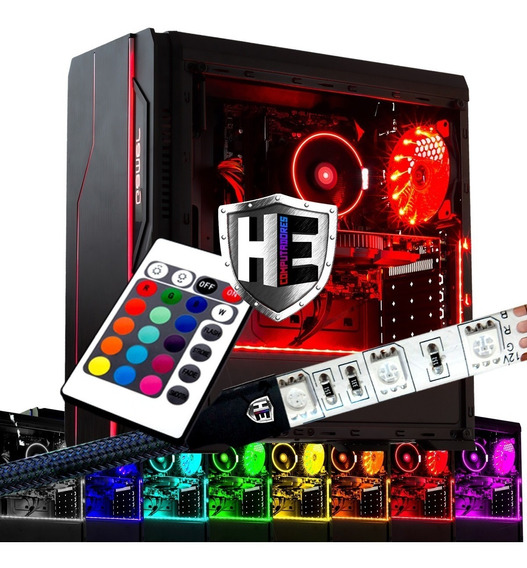 Fita Led Rgb Gabinete Computador Pc Molex 2m Controle Pro