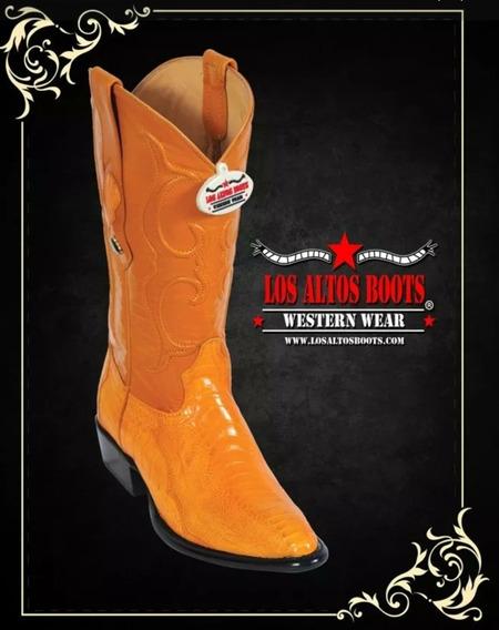 Botas Vaqueras Originales Los Altos Boots Piel Avestruz