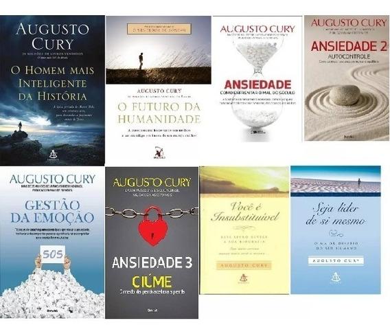 Coleção Augusto Cury 8 Livros: Ansiedade; Homem Inteligente;