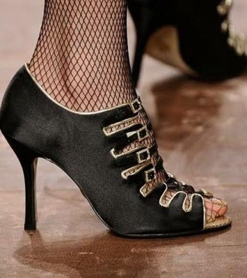 Sandália Ankle Boot Jorge Bischoff Fivelas Cetim Strass