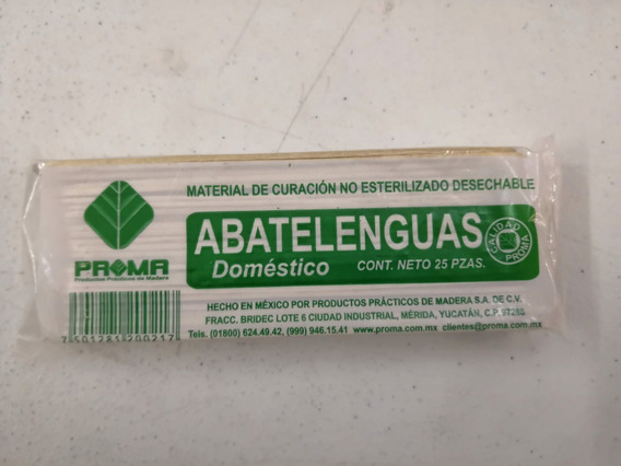 Abatelenguas Paquete Con 25 Piezas