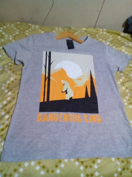 Remera Complot Gris Talle S Nueva