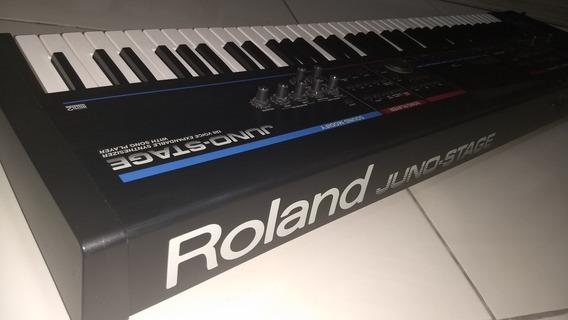 Teclado Sintetizador Roland Juno Stage - Troco Em Moto