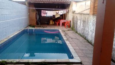 Casa Em Mongaguá Com Piscina, Ref. 0740 M H