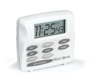 West Bend 40053 Triple Timer Con Reloj, Blanco