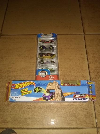 Pista Mini Cobra Hot Whells Y 6 Carros
