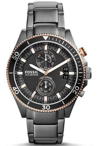 Relógio Fossil Ch2948/1pn Prata Feminino Masculino Unissex Original A Prova D