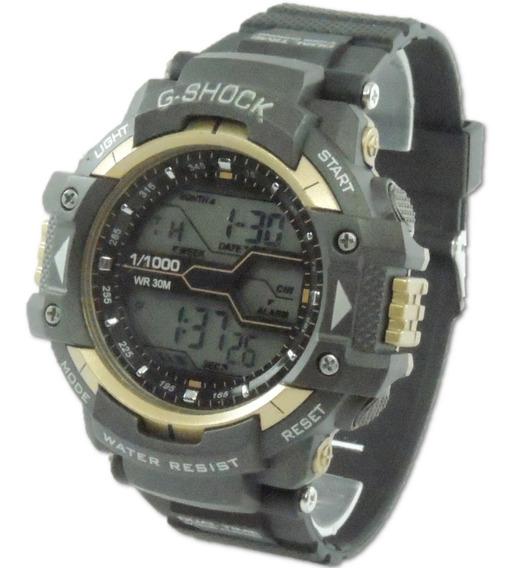 Relógio Masculino 8338g Digital Cronometro Calendário Alarme E Luz Esporte Fitness Shock Frete Grátis