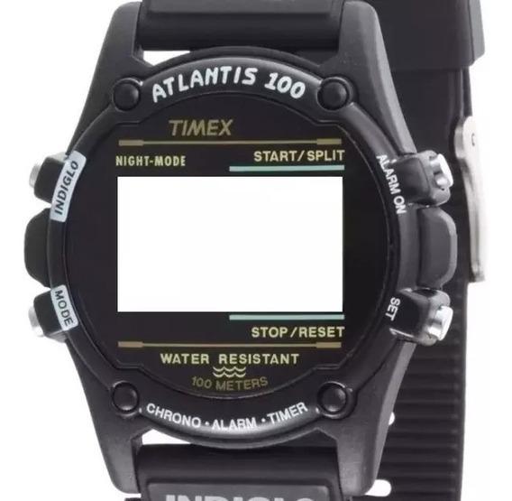 Caixa Timex Atlantis / Expedition Preta Nova (só Caixa E Tampa Completa)