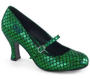Zapatos De Sirena Sirenita Verdes Para Damas 1