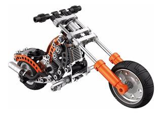 Moto Modelo Clásico Metal Chopper Meccano Evolución