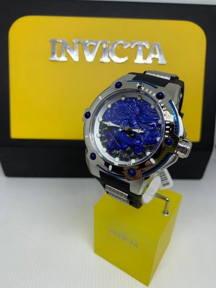 Relógio Invicta 25778 Prata Aço Inox 53mm Dragão * Speedway