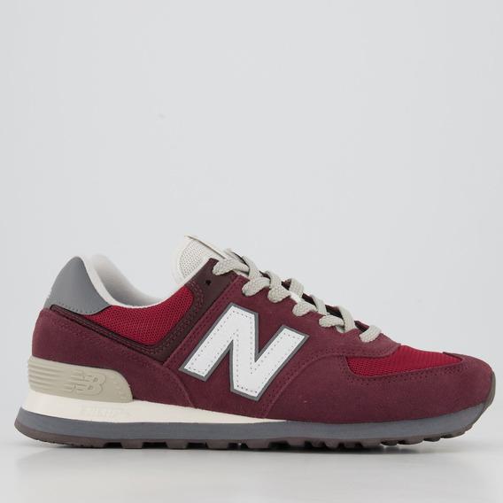 Tênis New Balance 574 Grená