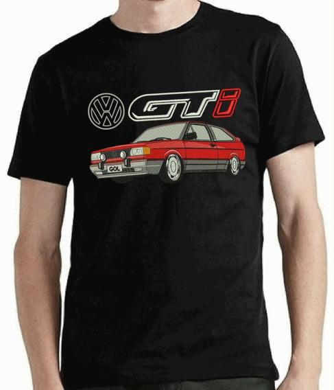 Camiseta Bordada Gol Gti Volkswagen Gts 90 91 92 93 94 95 Aspirado Rebaixado Orbital Ótima Qualidade