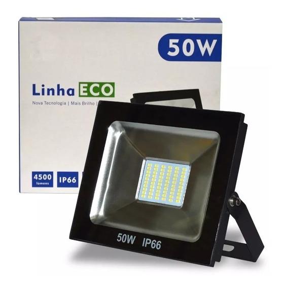 Refletor Led 50w 6500k Biv Ip66 Eco Up Led Smd Multiled