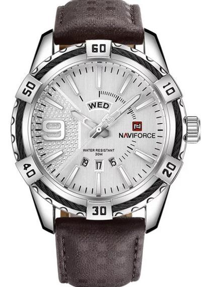 Relógio Masculino Luxuoso Naviforce Esportivo Casual Social