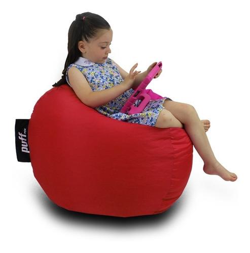Imagen 1 de 1 de Puff Para Niños Color Rojo - Perlitas De Unicel - Económico!