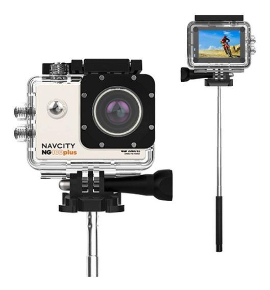 Câmera De Ação 16mp Tela 2 Navcity Ng100 Plus