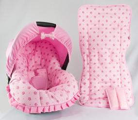 Capa Bebê Conforto E Capa De Carrinho - Coroa Rosa
