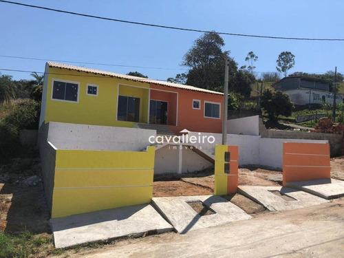 Casa Com 2 Dormitórios À Venda, 63 M² Por R$ 210.000,00 - Ponta Grossa - Maricá/rj - Ca3776