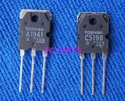 2=pares De Transistor A1941 C5198 A1941 C5198 Toshiba