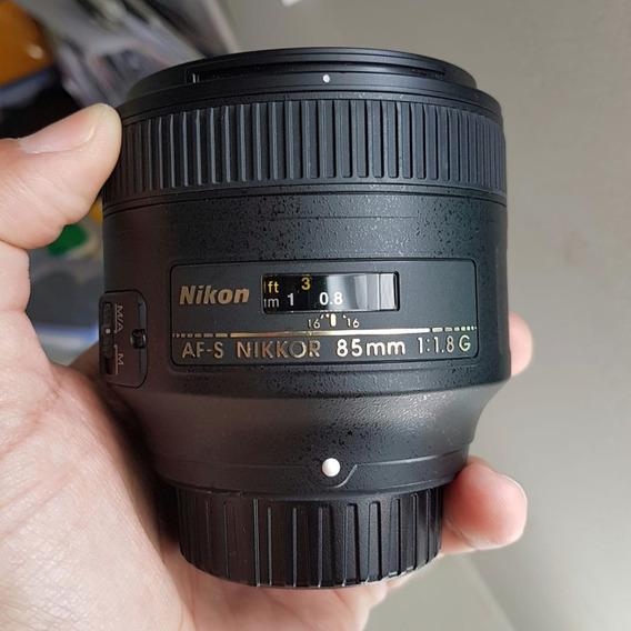 Lente Nikon 85mm F/1.8g Em Excelente Estado