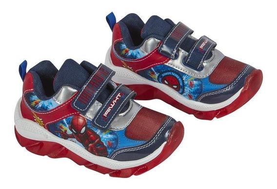 Zapato Tenis Niño Diseño Deportivo Spiderman Suela Con Luz C