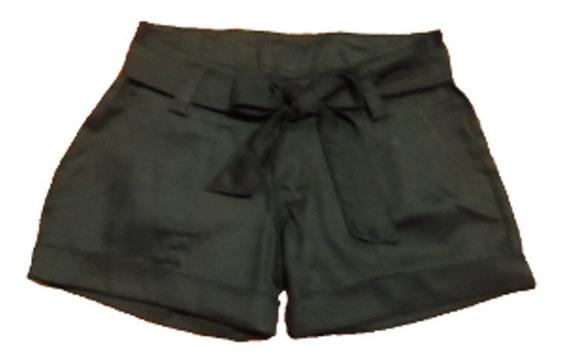 Shorts Damas De Drill Con Cinturon