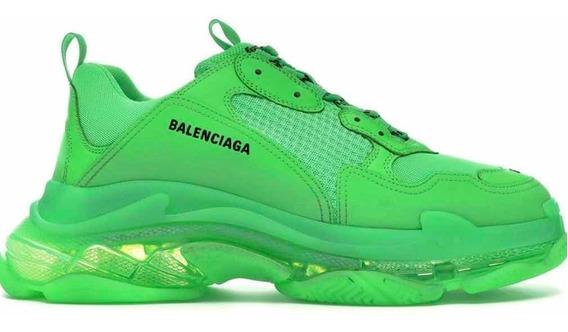 Balenciaga Triple S Neon Dama Envio Gratis