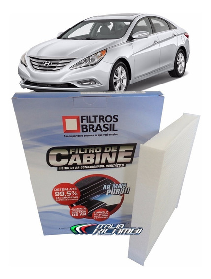 Filtro De Ar Condicionado Cabine Elemento Da Caixa De Pólen - Hyundai Sonata 2.4 16v Gasolina 2011 2012 2013 2014 2015
