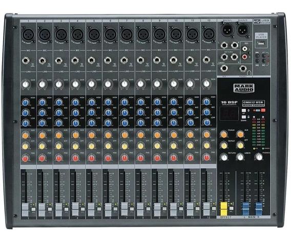 Mesa De Som Mark Audio 12 Canais Cmx12 Usb + Nf E Garantia!