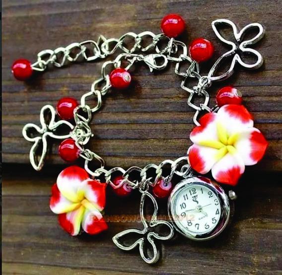 Pulseira Feminina Com Relógio...maravilhosa!!