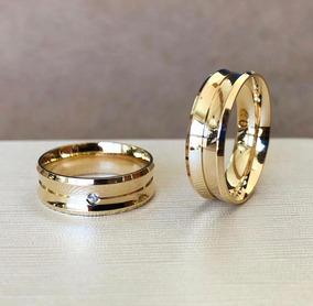 Par De Alianças De Ouro 18k 6mm 10 Gramas Casamento