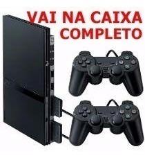 Playstation 2 Slim Completo +2 Controles+5 Jogos+memory Card