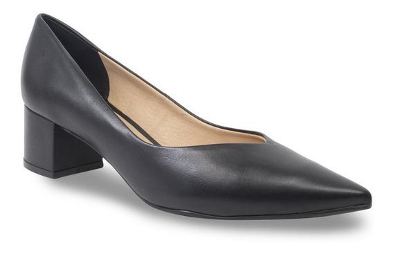Sapato Scarpin Bottero Couro Salto Médio Feminino 300703