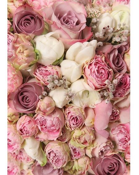 Fundo Fotográfico Em Tecido Newborn Flores 1,5x2,2m - Ffa-90