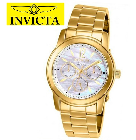 Relógio Feminino Angel 0465 Invicta Ouro 18k Promoção + N.f