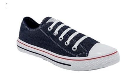 Zapato Tenis Dama Mezclilla Agujeta