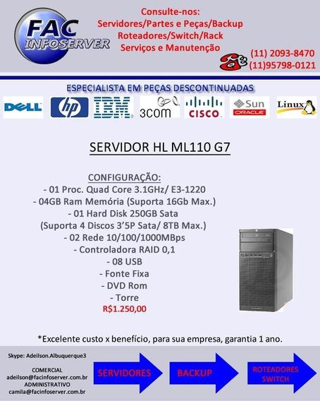 Servidor Hp Ml110 G7