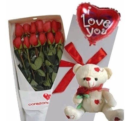 Caja De Rosa , Ramo O Florero Feliz Dia Del Amor