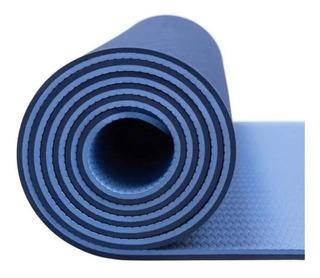 Colchoneta Mat 6 Mm Tpe + Algodon Ecologica Yoga Gym Cuotas