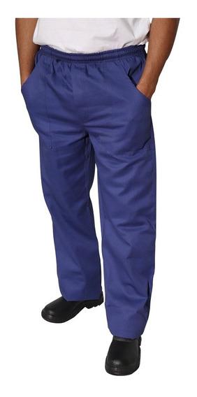10 Calça Em Oxford Azul Marinho
