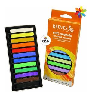 Tiza Pastel Reeves X 12 Colores Surtidos Barrio Norte