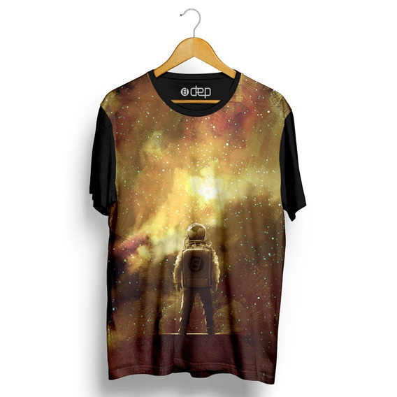 Camiseta Dep Homem No Espaço Amarela Original